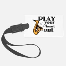 Play Heart Out Luggage Tag