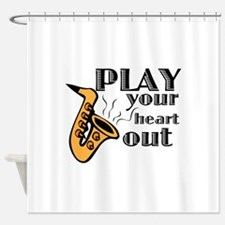 Play Heart Out Shower Curtain