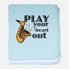 Play Heart Out baby blanket