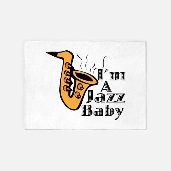 A Jazz Baby 5'x7'Area Rug