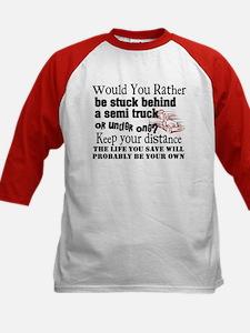 Behind or Under Trucking Kids Baseball Jersey