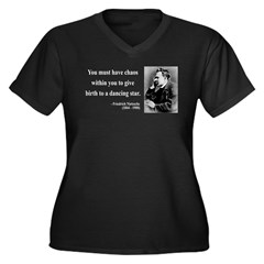 Nietzsche 16 Women's Plus Size V-Neck Dark T-Shirt