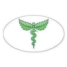 Caduceus with leaves Decal