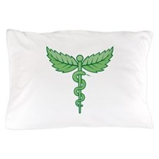 Caduceus with leaves Pillow Case