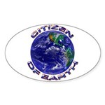 CITIZEN OF EARTH.... Oval Sticker