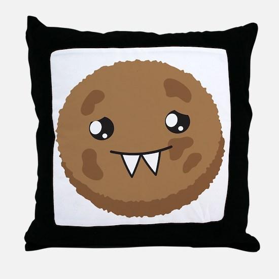 A cute COOKIE Monster Throw Pillow
