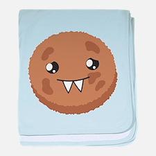 A cute COOKIE Monster baby blanket