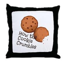 Cookies Crumbles Throw Pillow