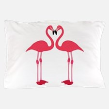 Flamingo Love Birds Pillow Case
