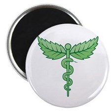 Caduceus with leaves Magnets