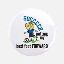 "Soccer Forward 3.5"" Button"
