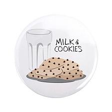 "Milk & Cookies 3.5"" Button"