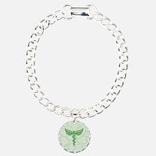 Caduceus with leaves Bracelet