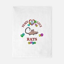 Peace Love Rats Twin Duvet