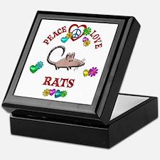 Peace Love Rats Keepsake Box