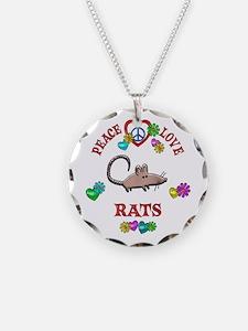 Peace Love Rats Necklace