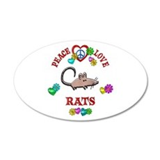 Peace Love Rats Wall Decal