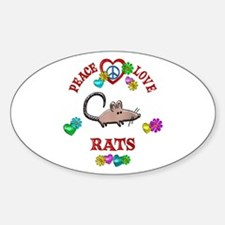 Peace Love Rats Decal