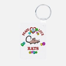 Peace Love Rats Keychains