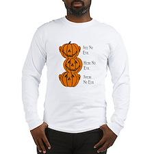 See, Hear, Speak No Evil Pumpkins Long Sleeve T-Sh