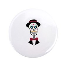 """Day Of Dead 3.5"""" Button"""