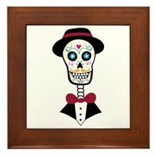 Day Of Dead Framed Tile