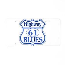 Hwy 61 Blues Aluminum License Plate