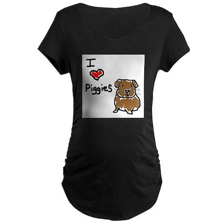 Rainbow Guinea Pigs Maternity Dark T-Shirt