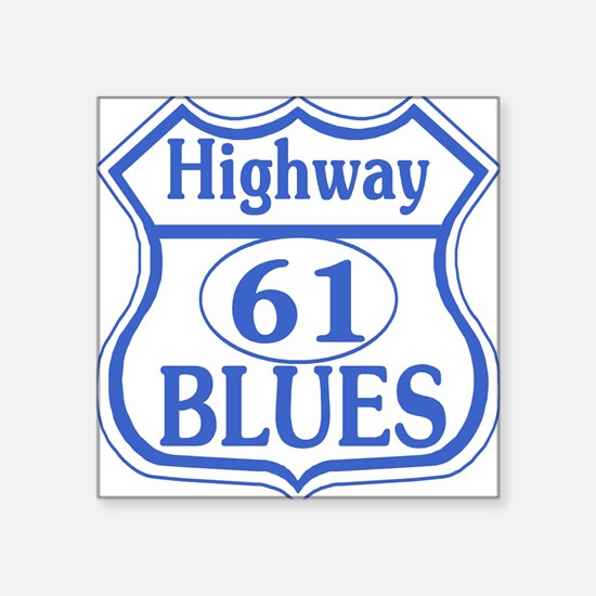 Highway 61 Blues Rectangle Sticker