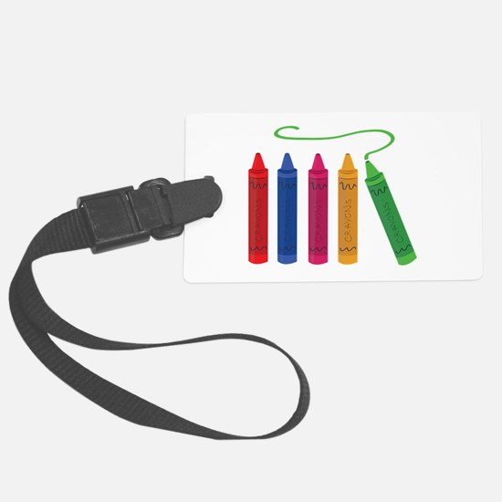 Color Crayons Luggage Tag