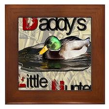 Daddy's Little Hunter Framed Tile