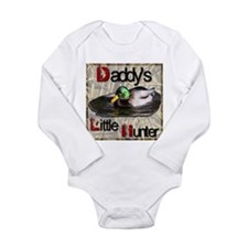 Daddy's Little Hunter Long Sleeve Infant Bodysuit