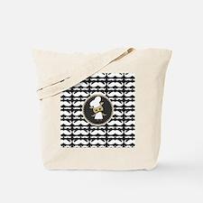 Retro Mustache Owl Chef Tote Bag