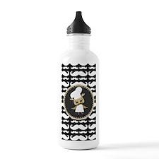 Retro Mustache Owl Che Water Bottle