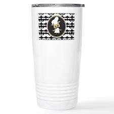 Retro Mustache Owl Chef Travel Mug
