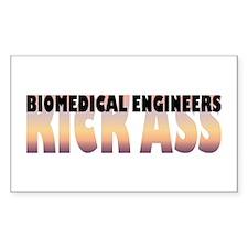 Biomedical Engineers Kick Ass Sticker (Rectangular