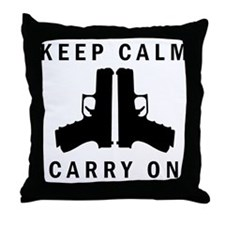 Keep Calm Carry On Throw Pillow