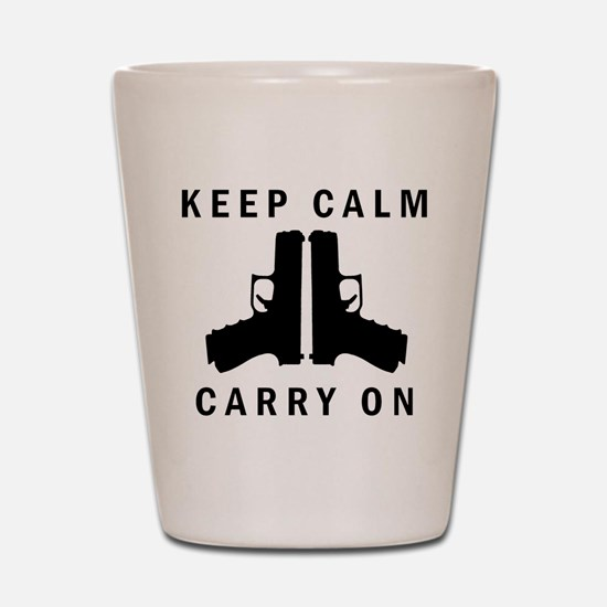 Keep Calm Carry On Shot Glass