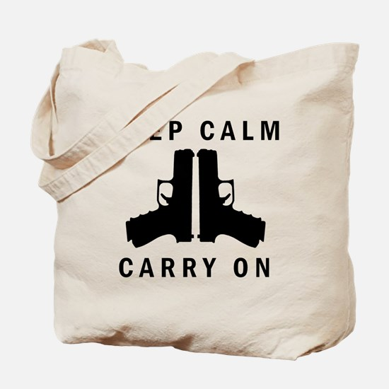 Keep Calm Carry On Tote Bag