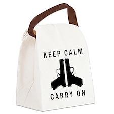 Keep Calm Carry On Canvas Lunch Bag