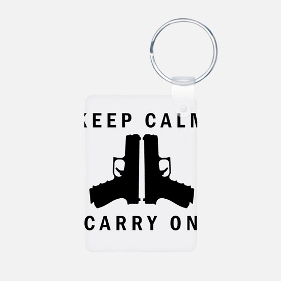 Keep Calm Carry On Keychains