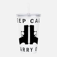 Keep Calm Carry On Acrylic Double-wall Tumbler