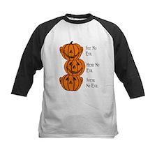 See, Hear, Speak No Evil Pumpkins Baseball Jersey