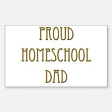 Proud Homeschool Dad 15 Rectangle Decal