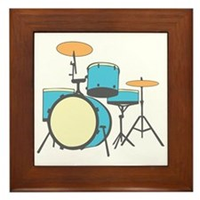 Drum Set Framed Tile