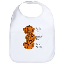 See, Hear, Speak No Evil Pumpkins Bib