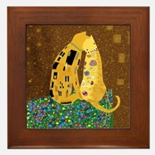 """Klimt's Kats"" Framed Tile"