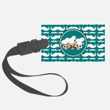 Owl Mustache Chef and Friends Luggage Tag