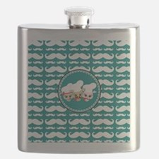 Owl Mustache Chef and Friends Flask