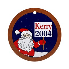 "Santa Says ""Kerry 2004!"" (ornament)"